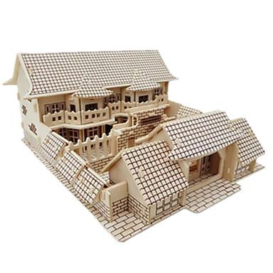 3D építőjátékok Fejtörő Wood Model Modeli i makete Népszerű épület Kínai építészet tettetés DIY Fa Klasszikus Kínai stílus Uniszex Ajándék