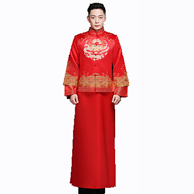 Cosplay Outfits Men's New Year Festival/Holiday Halloween Costumes Vintage Embroidered
