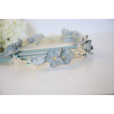 Cotton Headbands Flowers 1 Wedding Special Occasion Anniversary Birthday Party / Evening Casual Outdoor Headpiece