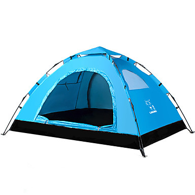 LINGNIU® 2 person Beach Tent Tent Single Camping Tent Outdoor Automatic Tent Keep Warm Waterproof Ultraviolet Resistant Sun Protection for