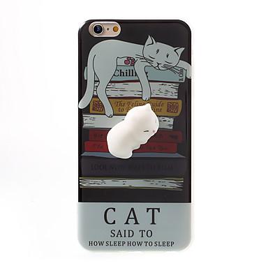 Käyttötarkoitus kotelot kuoret Kuvio DIY squishy Takakuori Etui Kissa Piirretty Pehmeä TPU varten AppleiPhone 7 Plus iPhone 7 iPhone 6