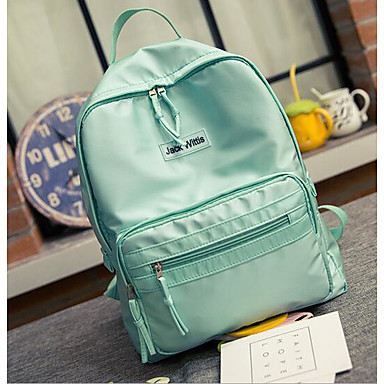 Women's Bags Nylon Sports & Leisure Bag for Casual All Seasons Black Blushing Pink Sea Green
