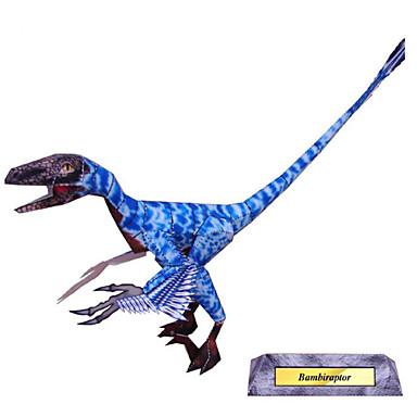 Quebra-Cabeças 3D Maquetes de Papel Artesanato de Papel Brinquedos de Montar Quadrada Dinossauro Simulação Faça Você Mesmo Clássico
