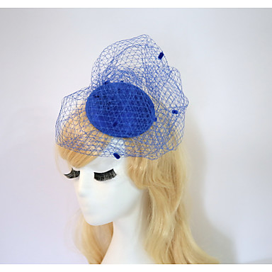 Gemstone & Crystal / Tulle / Resin Fascinators / Hats / Headpiece with Crystal / Feather 1 Wedding / Special Occasion / Halloween