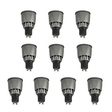 10pcs 7W 780lm GU10 LED-spotpærer 1 LED perler COB Dekorativ Varm hvit / Kjølig hvit 85-265V