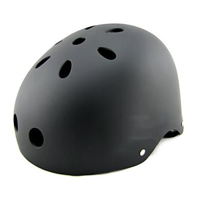 Skateboardhelm Skateboarden Helm Fahrradhelm Erwachsene Helm ASTM Bestätigung Dämpfung flexibel für Eislaufen Radsport / Fahhrad Schwarz