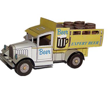 Carros de Brinquedo Quebra-Cabeças 3D Quebra-Cabeça Artesanato de Papel Caminhão 3D Simulação Faça Você Mesmo Clássico Caminhão Unisexo