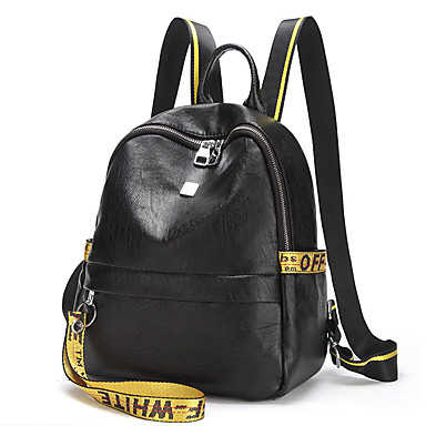 Women's Bags Oxford Cloth Backpack for Casual All Seasons Black Yellow