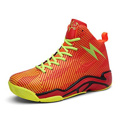 Homens sapatos Materiais Customizados Primavera Verão Conforto Tênis Basquete Velcro para Atlético Ao ar livre Preto Laranja Vermelho