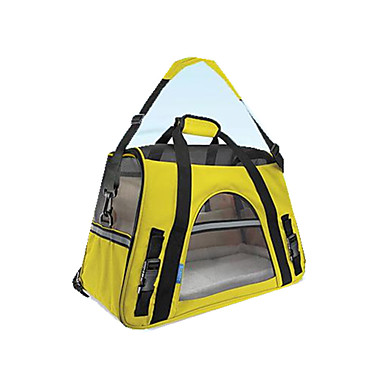 Cat Dog Carrier & Travel Backpack Pet Carrier Portable Breathable Solid Colored Yellow Fuchsia