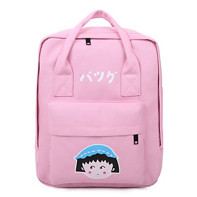 Women Bags All Seasons Canvas Backpack for Casual Black Blushing Pink Dark Blue Gray Dark Green