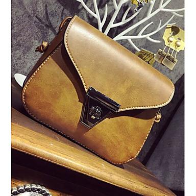 Women's Bags PU Crossbody Bag for Casual Outdoor All Seasons Black Gray Brown