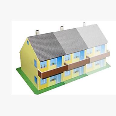 Quebra-Cabeças 3D Artesanato de Papel Quadrada Construções Famosas Casa Arquitetura 3D Faça Você Mesmo Cartão de Papel Duro Unisexo Dom
