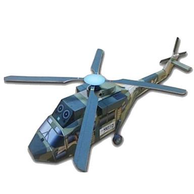 Quebra-Cabeças 3D Maquetes de Papel Artesanato de Papel Brinquedos de Montar Aeronave Helicóptero Faça Você Mesmo Cartão de Papel Duro