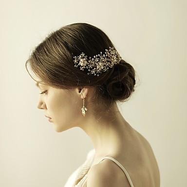Rhinestone Alloy Tiaras Headbands Flowers 1 Wedding Special Occasion Anniversary Birthday Party / Evening Headpiece
