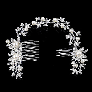 Alloy Hair Combs / Headwear with Floral 1pc Wedding / Special Occasion / Party / Evening Headpiece