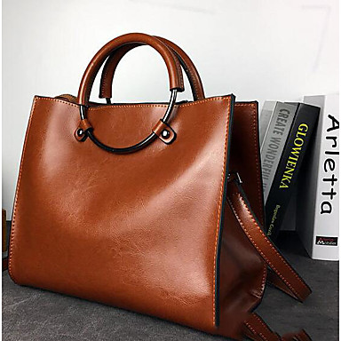 Women Bags All Seasons Cowhide Shoulder Bag with for Casual Outdoor Black Red Brown