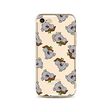 Case For Apple iPhone X iPhone 8 Plus Transparent Pattern Back Cover Tile Cartoon Animal Soft TPU for iPhone X iPhone 8 Plus iPhone 8