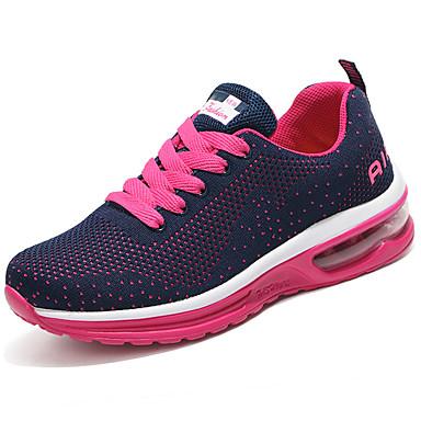 Mulheres Sapatos Couro Ecológico Primavera Verão Conforto Tênis Salto Baixo para Casual Preto Pêssego Vermelho
