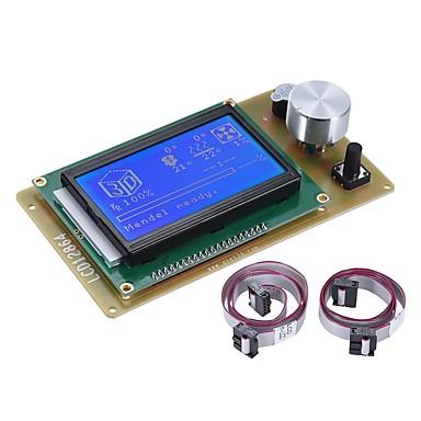 baratos Peças e Acessórios para Impressoras 3D-12864 lcd módulo de controle de tela inteligente com cabo para rampas 1.4 arduino mega pololu shield arduino reprap acessório de kit de