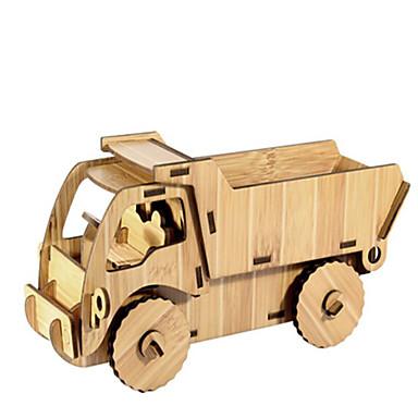 voordelige 3D-puzzels-Speelgoedauto's 3D-puzzels Legpuzzel Automatisch DHZ Puinen Natuurlijk Hout Constructievoertuig Kinderen Unisex Speeltjes Geschenk