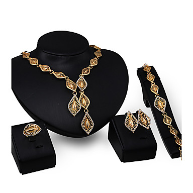 Női Strassz Cirkonium / Arannyal bevont Mások Ékszer szett - Személyre szabott / Divat Geometric Shape Arany Nyaklánc medálok