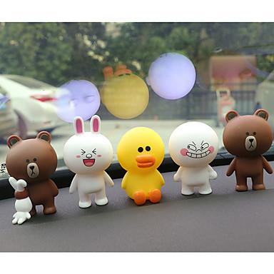 Diy autóipari barna medve lehet nyúl babák szép díszek autó medál&Orname gumi