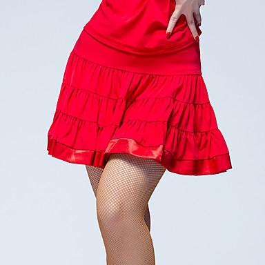 Latin tánc Alsók Női Teljesítmény Jég selyem Fodrozott Természetes Szoknyák