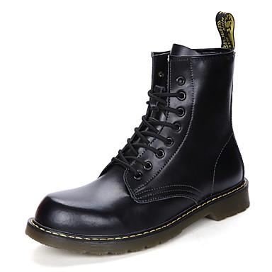 Férfi cipő Bőr / PU Ősz / Tél Kényelmes / Hócipők / Divatos csizmák Csizmák Magas szárú csizmák Piros / Kék / Világosbarna