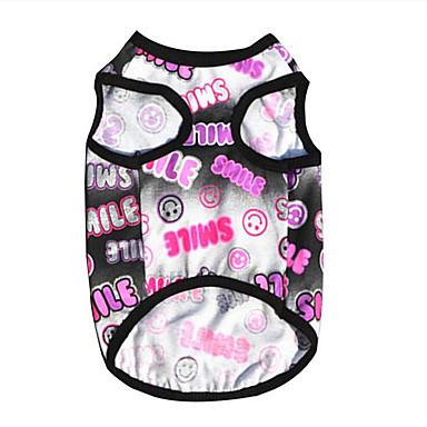 Dog Vest Dog Clothes Letter & Number Black / Orange Cotton Costume For Pets Summer Men's / Women's Casual / Daily