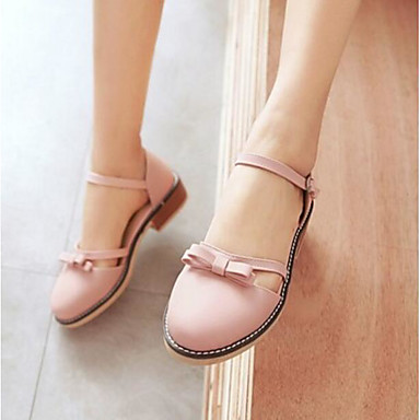 Damen Schuhe PU Sommer Komfort Sandalen Für Normal Schwarz Beige Rosa