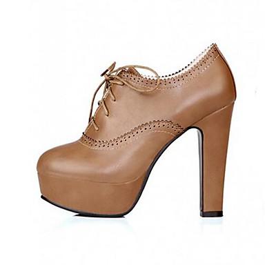 Damen Schuhe PU Frühling Herbst Komfort Outdoor Für Normal Weiß Schwarz Braun Dunkel Braun