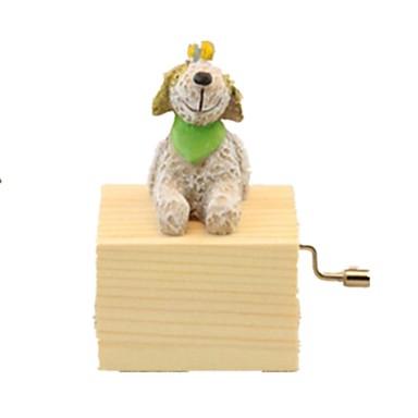 Labdák Zenedoboz Kutyák Állatok Szeretetreméltő Gyermek Felnőttek Gyerekek Ajándék Fa Uniszex