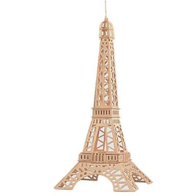 3D építőjátékok Fejtörő Wood Model Népszerű épület Ház Fa Uniszex Ajándék