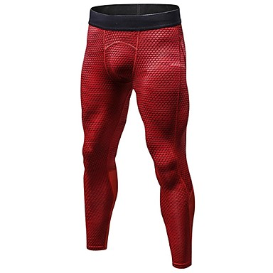 Men's Running Tights / Gym Leggings - Red, Blue, Black+Gray Sports Tights Fitness, Gym, Workout Activewear Lightweight, Breathable, Fitness, Running & Yoga Stretchy / Anatomic Design / Quick Dry