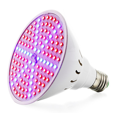 1pc 8 W 780-935LM E26 / E27 Wachsende Glühbirne 126 LED-Perlen SMD 2835 Rot 85-265 V / RoHs / FCC