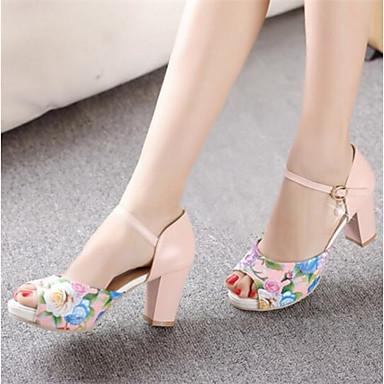Damen Schuhe PU Sommer Komfort Sandalen Für Normal Weiß Blau Rosa