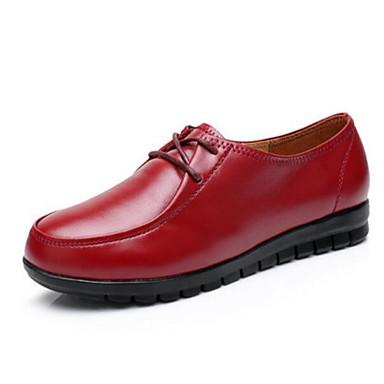 Damen Schuhe PU Sommer Komfort Outdoor Für Normal Schwarz Braun Rot