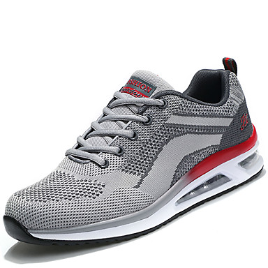 Men's Light Soles Mesh / PU(Polyurethane) Spring / Fall Comfort Athletic Shoes Gray / Red / Black / Red