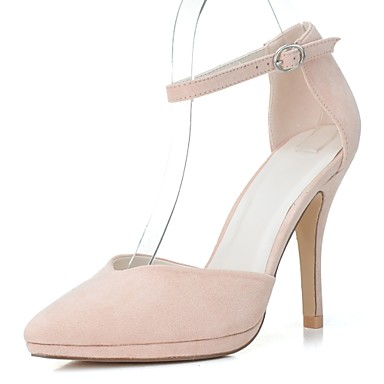 Women's Shoes Leatherette Spring / Summer Formal Shoes Heels Stiletto Heel Pointed Toe Green / Blue / Almond / Dress