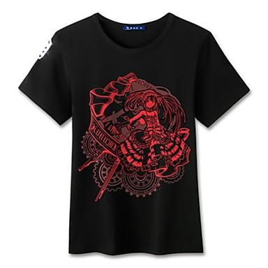 Inspiriert von Date A Live Cosplay Anime Cosplay Kostüme Cosplay-T-Shirt Cartoon Design Kurzarm Top Für Herrn Damen