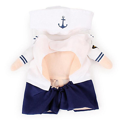 Dog Costume Dog Clothes Sailor Cotton Costume For Pets Men's / Women's Cosplay