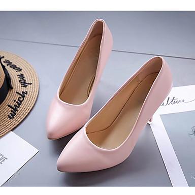 Sintético Verano Lunares Tacón Cuero Zapatos 05146306 Paseo Primavera Patentado Rojo Tacones Mujer Stiletto Rosa Almendra Semicuero 5xFYzw
