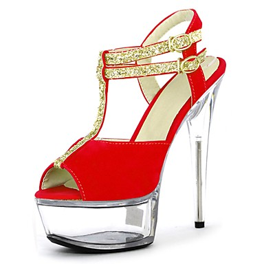 Talon Paillette Chaussures Boucle 06153155 Aiguille Brillante Paillette Bout ouvert Femme Brillante Lacet Eté formelles Sandales Chaussures I00wSqHP