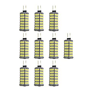 10pcs 4W 320lm G4 LED betűzős izzók 120 LED gyöngyök SMD 2835 Meleg fehér / Fehér 12V / 10 db.