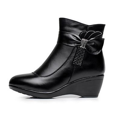 Damen Schuhe PU Winter Komfort Stiefel Für Normal Schwarz