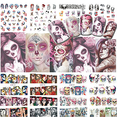 Water Transfer Sticker Nail Stamping Template Daily Fashion High Quality