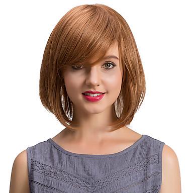 Emberi hajszelet nélküli parókák Emberi haj Természetes hullám Klasszikus Jó minőség Géppel készített Paróka Napi