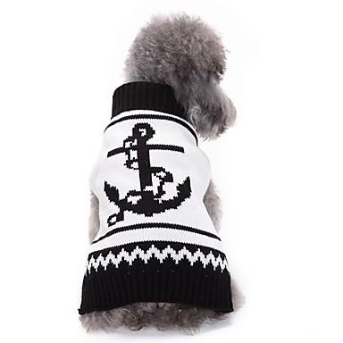 Kutya Kabátok Pulóverek Karácsony Kutyaruházat Tengerész Fekete/Fehér Akrilszálak Jelmez Háziállatok számára Férfi Női Party