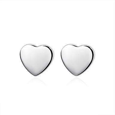 Női Beszúrós fülbevalók - Ezüstözött Szív aranyos stílus Ezüst Kompatibilitás Esküvő / Parti / Napi